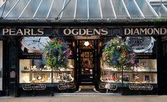 Edwardian shop fronts - Jewellers shop Ogdens of Harrogate.