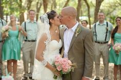 bride and groom, aqua mint and pink wedding ideas, rustic southern shabby chic wedding, Luminaire Foto