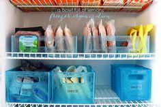 The Ultimate Freezer Organization tips via A Bowl Full of Lemons.  Never waste money on food again!  #freezerorganization #organize #freezer