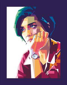 trendy Ideas for pop art painting faces portraits behance Pop Art Portraits, Portrait Art, Pencil Art Drawings, Art Sketches, Polygon Art, Art Anime, Artist Art, Vector Art, Street Art
