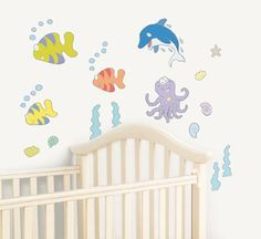 FunToSee Undersea Adventure Nursery, Bedroom and Bathroom Wall Decals, Underwater -- To view further for this item, visit the image link.