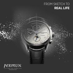 "BAUME MERCIER - From sketch to real life…  ""The fine details found in the new Clifton Chronograph Complete Calendar start life as a sketch.""  www.permun.com  Tel: 0 (224) 241 31 31  #Baumemercier #Korupark #Koruparkavm #Bursa #İstanbul #Watch #Luxury #Tourbillion #Style #Art #Horology #Design #Designer"