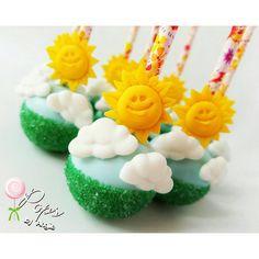 Cloud & Sunshine Cake Pops