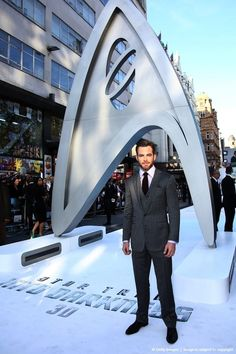 Chris Pine at the UK Premiere of Star Trek Into Darkness on May 2, 2013 in London.