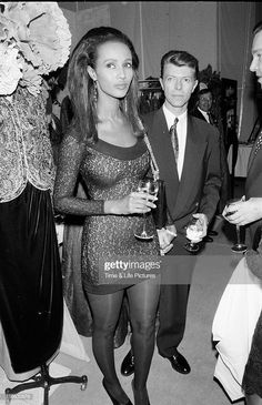 Somali model Iman with husband David Bowie Iman Bowie, Iman And David Bowie, David Bowie T Shirt, David Bowie Born, David Bowie Starman, Angela Bowie, Supermodel Iman, Duncan Jones, David Bowie Pictures