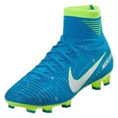 190022caf Nike Jr. Youth Mercurial Superfly V NJR Neymar FG (Blue Volt). Kids Soccer  ...