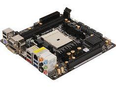 ASRock FM2A85X-ITX FM2 AMD A85X (Hudson D4) HDMI SATA 6Gb/s USB 3.0 Mini ITX AMD Motherboard with UEFI BIOS