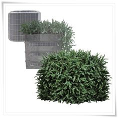 The only product of its kind, TRiCC utility cover, looks like a beautiful evergreen hedge but under its foliage is a rigid, louvered frame designed to provide a year-round disguise and protection for your a/c condensers, heat pumps, pool filters, pool pumps and home generators.