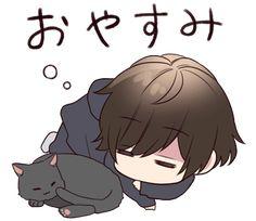 It is a cute sticker of Menhera-kun. Naruto Chibi, Chibi Manga, Chibi Bts, Dibujos Anime Chibi, Cute Anime Chibi, Manga Anime, Cool Anime Guys, Cute Anime Boy, I Love Anime