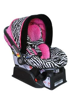 Image Detail For Zebra Hot Pink Custom Infant Car Seat Cover The Peg Perego