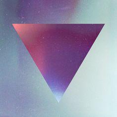invert, upside down, triangle, space, galaxy, stars, blue, purple
