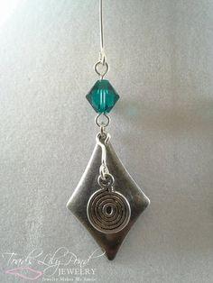 Whimsical green long dangle earrings by ToadsLilyPondJewelry, $19.99