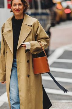 Trench look street style