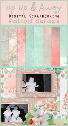 Show off those sweet photos, The soft, sweet color palette with bold orange accents will set the mood for telling YOUR story.  It is versatile enough to scrap everything from vintage to the kids yesterday.