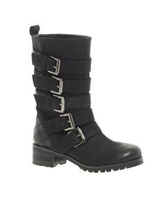 $123.13 ASOS COMMANDO Leather Biker Boots