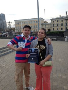 Победители 3-го раунда на «Online Квест: Охота за билетами», который проводят хоккейный клуб «Динамо» совместно с ВТБ «Ледовый Дворец» (Комсомольская площадь, 3 вокзала, Москва, 3-й раунд, 19 сентября 2015)