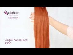 Ginger Red #350 | Gorgeous Human Hair Extensions | Free hair matching and free delivery worldwide. #hairextensions