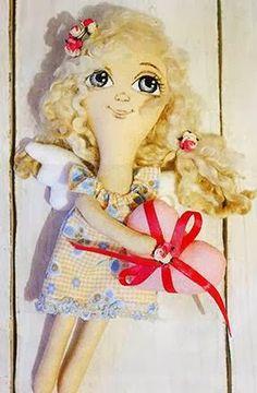 Mimin Dolls: anjinha com coração