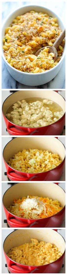 Skinny Cauliflower Mac and Cheese - A lightened-up, healthy mac and cheese.