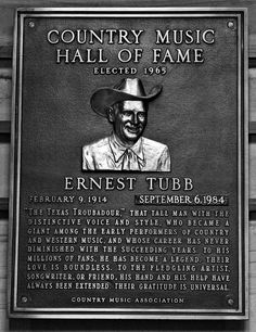 Elected 1965 - Ernest Tubb, Country Music Hall of Fame