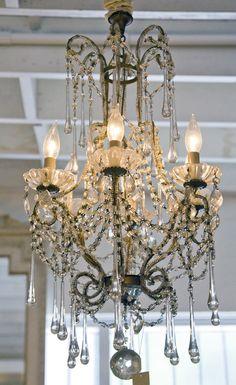 6 Light Long Droplet Chandelier - Pom Pom Interiors