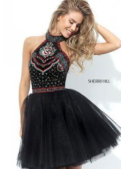 Sherri Hill 50707 Embroidered Short Dress