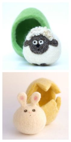 Easter basket gifts | adorable felted wool animals by Fairy Folk