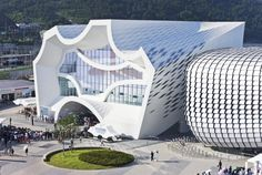 Unsangdong Architects designed the pavilion for the Hyundai Motor Group as part of the 2012 Expo in Yeosu, South Korea.