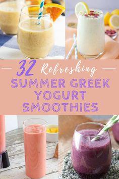 Mango Smoothie Healthy, Blueberry Spinach Smoothie, Chocolate Avocado Smoothie, Smoothie Recipes With Yogurt, Yogurt Smoothies, Strawberry Smoothie, Smoothie Drinks, Yogurt Recipes, Workout Smoothie