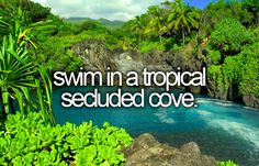 Swim In A Tropical Secluded Cave.
