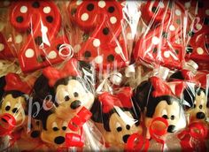 Minnie Mouse Lollipops. Number 2 Lollipops. by SpeciallyMadeBows