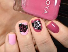 Beautiful flower stamping nails, do you like them? More details shared in bornprettystore.com