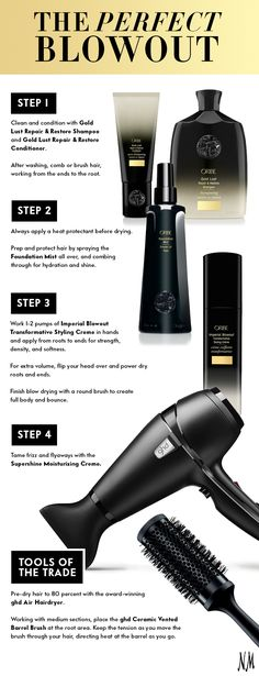 Lockdown salon-style tresses when you follow this step-by-step blowout guide with Oribe must-haves.