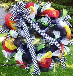 Black White Checkered Flag Race Racing Mesh by DeloresCreations