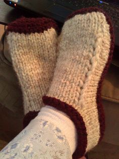 89: pattern, http://www.ravelry.com/patterns/library/non-felted-slippers; Socks, Slippers, Boot cuffs, Leg Warmers: 20, 63, 89, 90, 112.