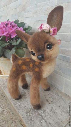 Купить Олени - коричневый, олень, олени, олень игрушка, олененок, игрушка олень, валяная игрушка Needle felting, felt toys