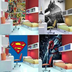 """Search Results for """"superhero bedroom wallpaper uk"""" – Adorable Wallpapers Kids Bedroom, Bedroom Decor, Bedroom Ideas, Bedroom Wall, Nursery Ideas, Avengers Bedroom, Superhero Room, Bed In Living Room, New Room"""