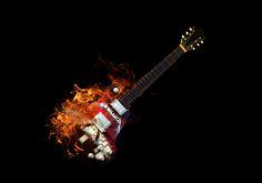 Burning guitar by Alexander Arntsen on 500px