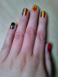 #nailart #goreddevils #belgium