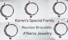 Karen's Family Reunion 5 Bracelets by ANenaJewelry on Etsy, $40.00