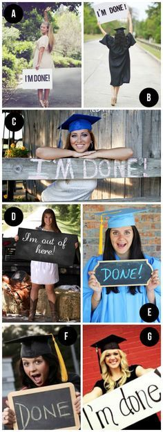 Cap and Gown Graduation Photo ideas More