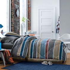 Baldwin Stripe TCS® Down and TCS® Down-Free™ Comforter & Sham