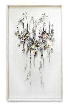 Anne Ten Donkelaar   Flower Constructions - flower collage art
