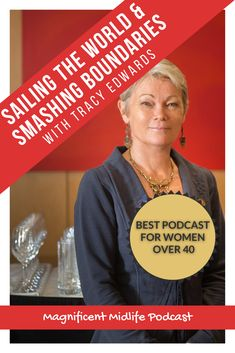 Meet the amazing Tracy Edwards in this inspirational podcast episode. Tracy skippered the first all female crew to participate in the Whitbread Round The World Race and is now using her boat to raise standards of global female education. Click to listen! #inspirationalpodcast #bestpodcast #podcastforwomen #podcastforwomenover40  #midlife #sailing Stuck In Life, The World Race, Finding Purpose, Health And Wellness, Sailing, Meet, Inspirational, Education, Female
