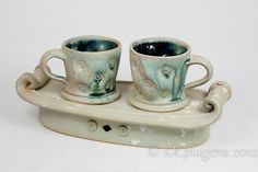 Set of Espresso Cups.  Jake Allee.    Photo by S.K. Plagens.