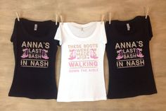 Last Bash In Nash Nashville Bachelorette Party Shirts Personalized with name and date by nestingprojectwed on Etsy https://www.etsy.com/listing/280117306/last-bash-in-nash-nashville-bachelorette