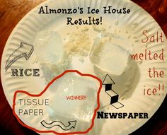 Almanzo's Ice House ~ A Farmer Boy Activity - at Raising the Barrs