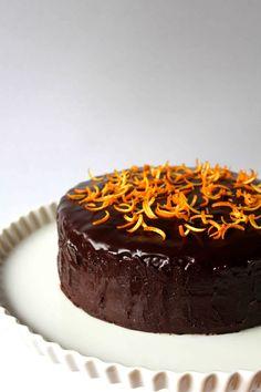 Chocolate Cake with Orange Marmalade and Chocolate Glaze
