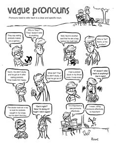 """This is part of a larger book called """"Grammar Comics!: Sentence Problems"""""""