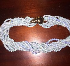 A personal favorite from my Etsy shop https://www.etsy.com/listing/495123480/vintage-twist-beads-and-shell-clasp